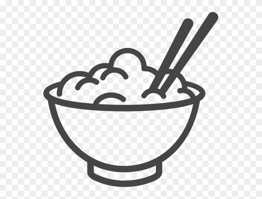 Rice bowl clipart svg library library Bowl Of Rice Icon Clipart (#1496706) - PinClipart svg library library