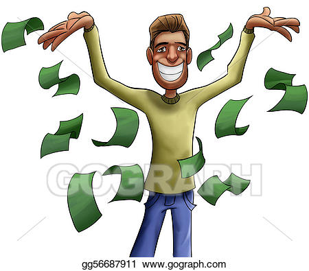 Rich person clipart image royalty free Clipart - Young and crazy rich man. Stock Illustration ... image royalty free
