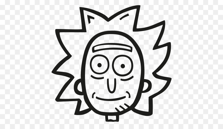 Rick and morty clipart black and white