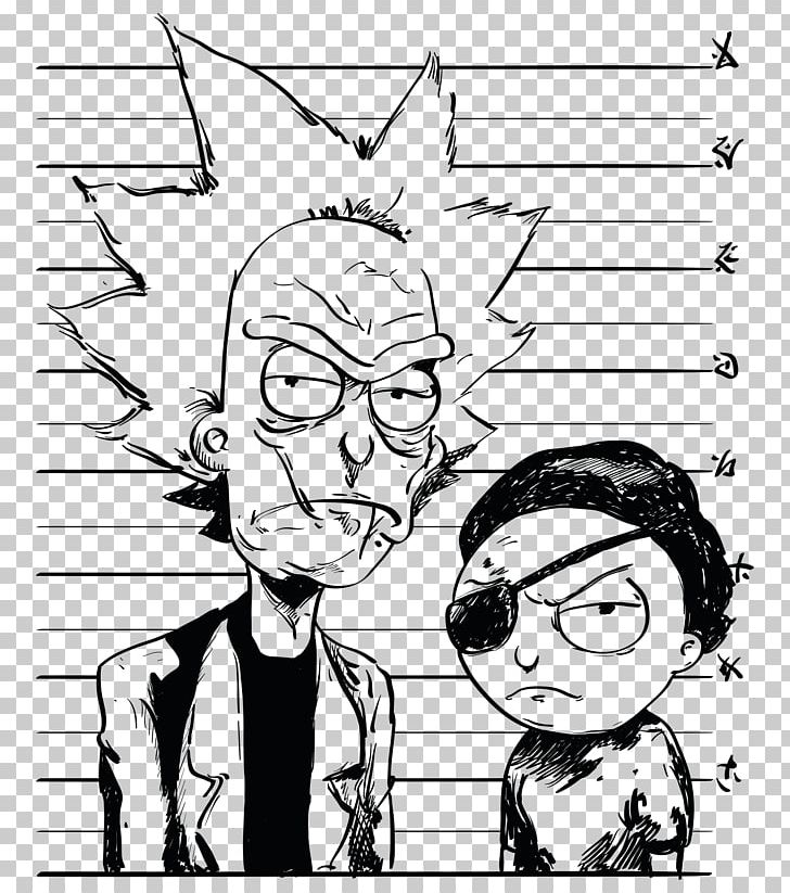 Rick and morty clipart black and white graphic free download T-shirt Rick Sanchez Morty Smith Hoodie PNG, Clipart, Arm ... graphic free download