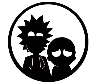 Rick and morty clipart black and white vector royalty free library Rick and Morty Decal | Decals | Rick, morty tattoo, Rick ... vector royalty free library