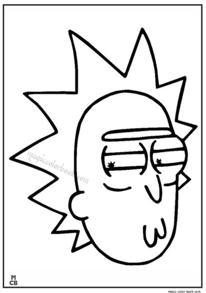 Rick and morty clipart black and white jpg library Rick Morty Coloring Pages | Rick and morty birthday in 2019 ... jpg library