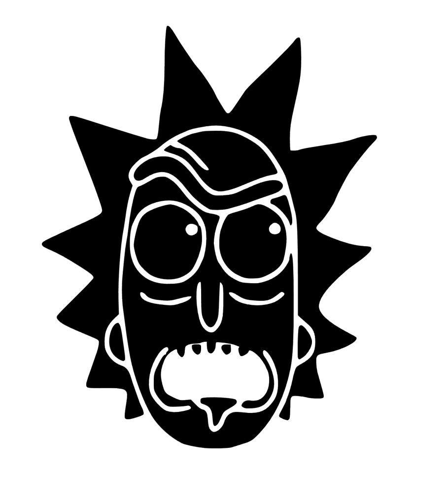 Rick and morty clipart black and white banner black and white Rick - Rick & Morty | home projects | Rick, morty stickers ... banner black and white