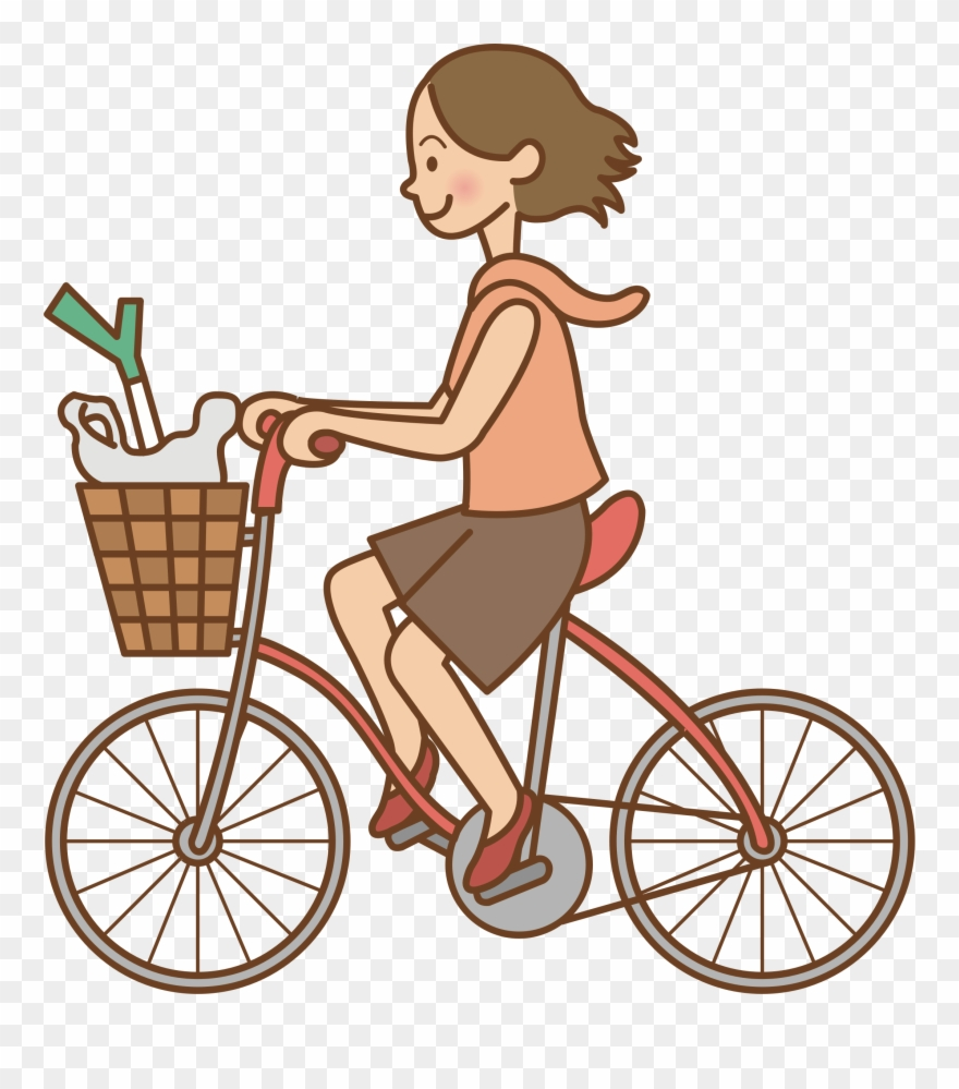 Riding bikes clipart clip art transparent Clipart Transparent Library Woman Bicycle Big Image - Riding ... clip art transparent