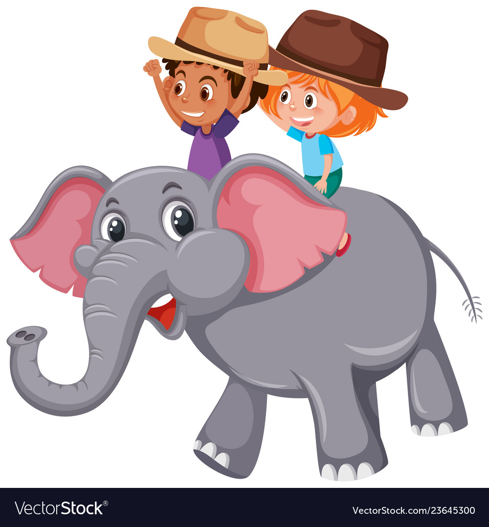 Riding an elephant clipart image royalty free Boy riding on elephant image royalty free