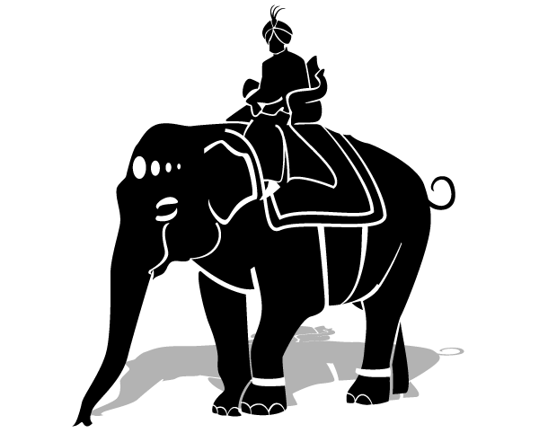 Riding an elephant clipart picture library download Maharaja Riding an Elephant Vector Clipart | Free Vectors ... picture library download