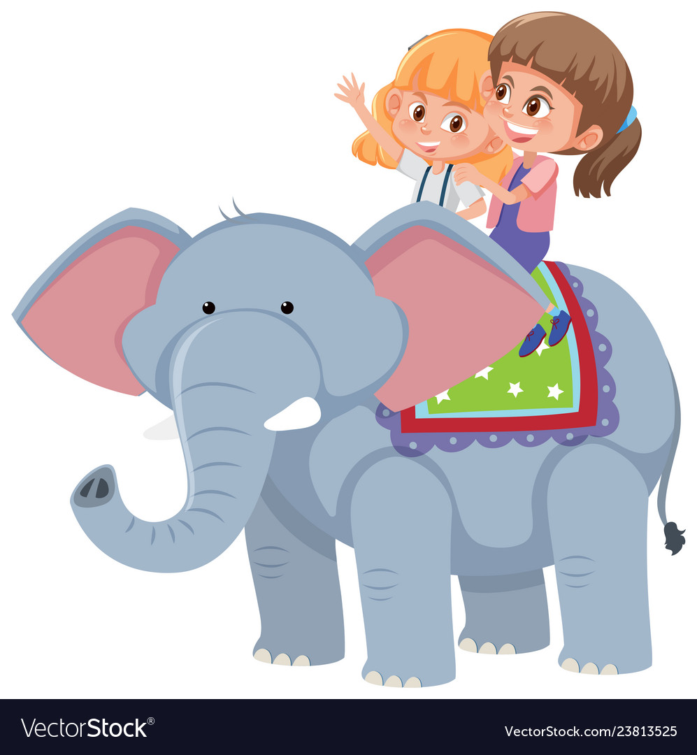 Riding an elephant clipart clip royalty free library Girls riding an elephant clip royalty free library