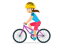 Riding bikes clipart clipart library stock Sports Clipart - Free Bicycle Clipart to Download clipart library stock
