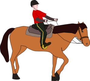 Horserider clipart clipart library Horse Riding Lesson Clip Art at Clker.com - vector clip art ... clipart library