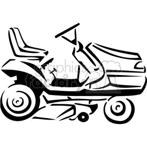 Riding lawn mower black and white with clipart clipart black and white stock black and white riding lawnmower clipart. Royalty-free clipart # 385042 clipart black and white stock