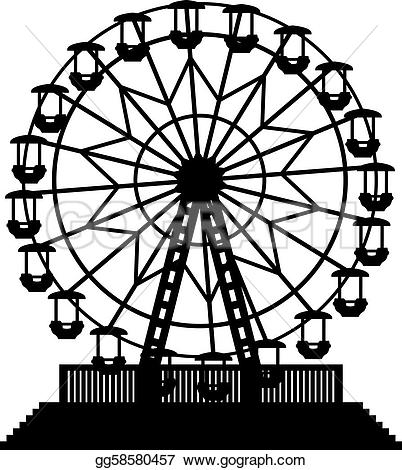 Riesenrad clipart kostenlos image transparent stock Ferris Wheel Silhouette Clip Art on Quotesfab.com image transparent stock