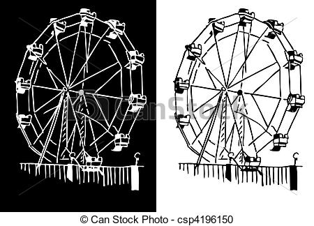 Riesenrad clipart kostenlos png black and white download Ferris wheel Illustrations and Clip Art. 3,437 Ferris wheel ... png black and white download