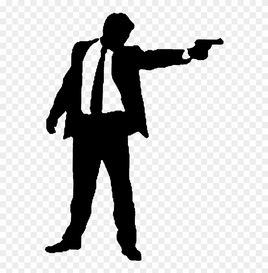 Rifle shooting sihouette standing clipart free Shooting Silhouette At Getdrawings - Man Shooting Silhouette ... free