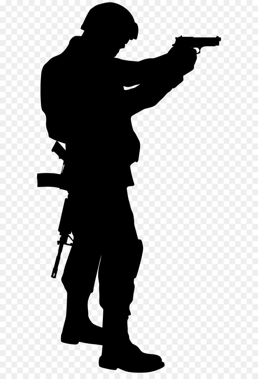 Rifle shooting sihouette standing clipart png royalty free download Soldier Silhouette png download - 3981*8000 - Free ... png royalty free download
