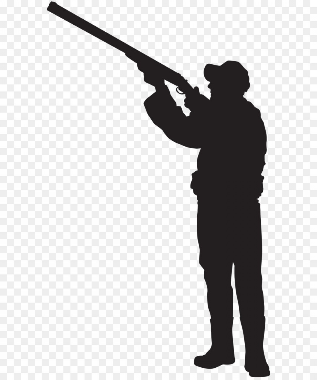 Rifle shooting sihouette standing clipart picture free stock Png Hunter Silhouette Png Clip Art Image | SOIDERGI picture free stock