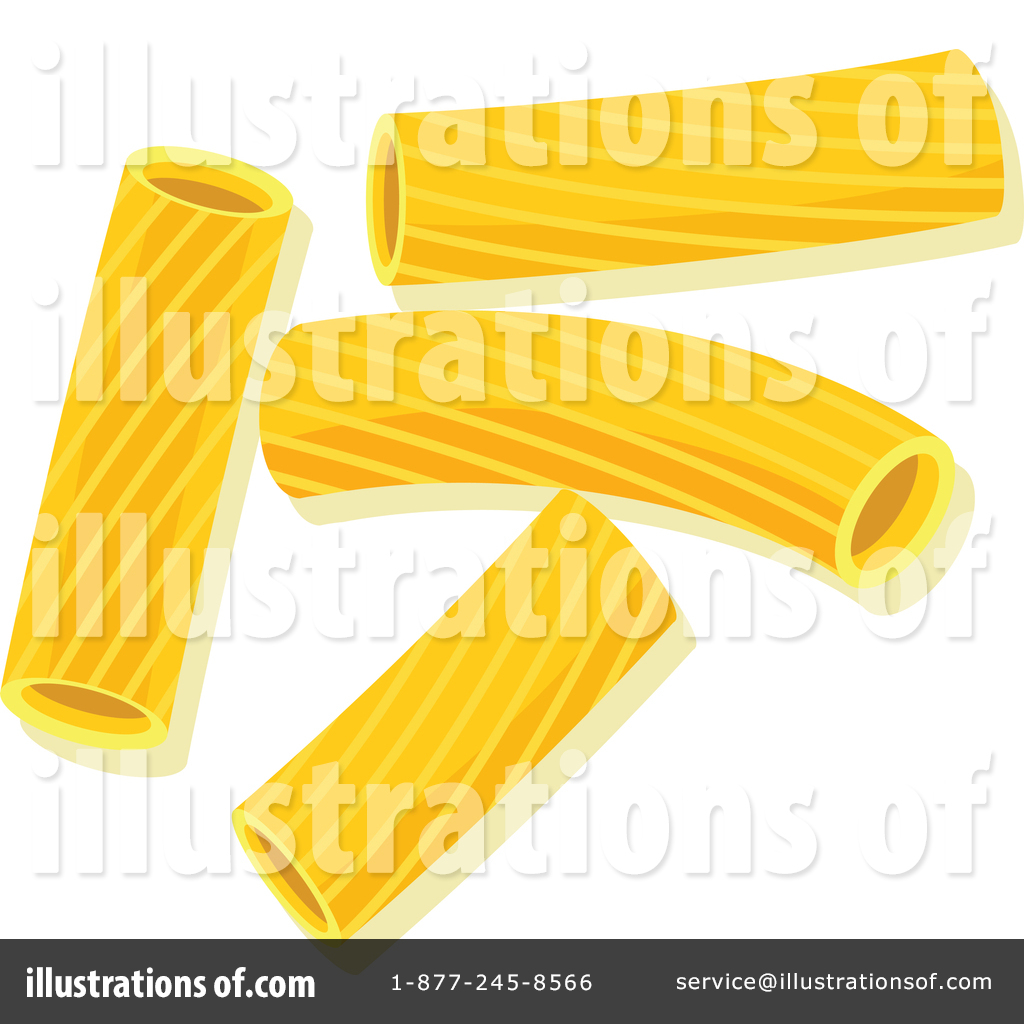 Rigatoni clipart royalty free library Pasta Clipart #1447081 - Illustration by Vector Tradition SM royalty free library