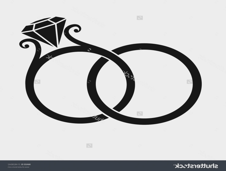 Ring clipart silhoutte picture library download Wedding rings clipart silhouette - Cliparts Suggest ... picture library download