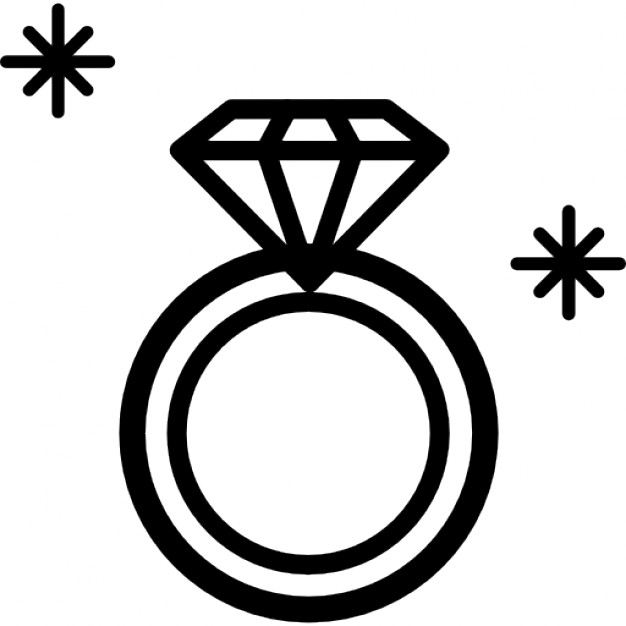 Ring vector clipart png Vector and diamond ring clipart black and white favorite 2 ... png