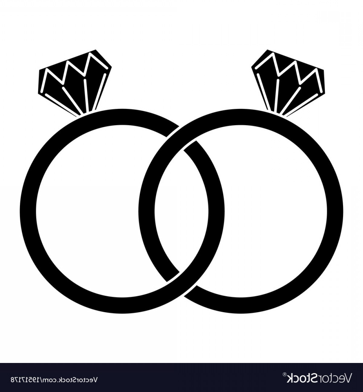 Ring vector clipart graphic black and white library Diamond Engagement Rings Icon Image Vector | SOIDERGI graphic black and white library