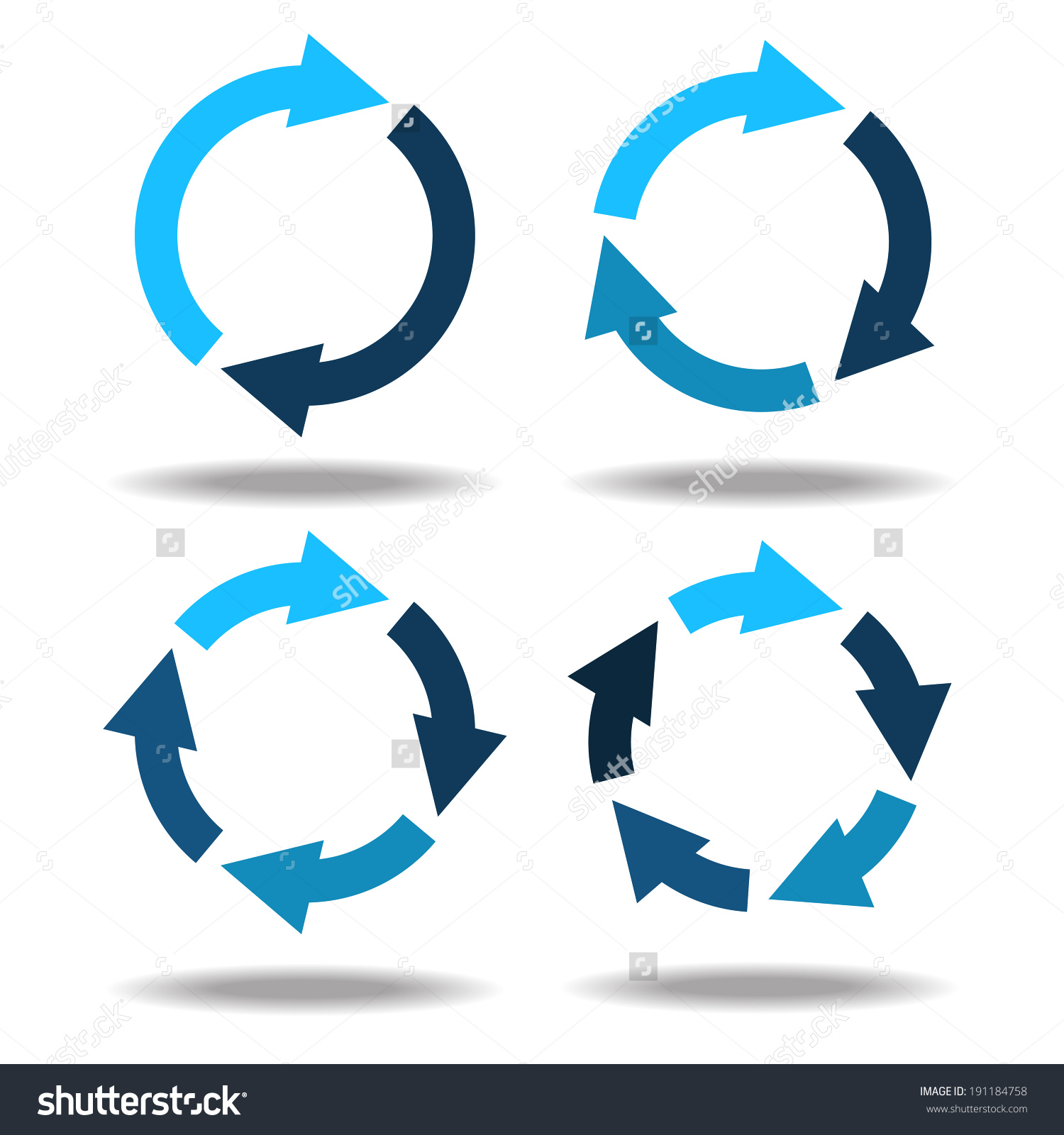 Ring with arrow clipart png free stock Set Icons Circle Arrows Cyclical Process Stock Vector 191184758 ... png free stock