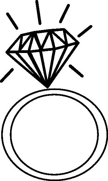 Ringed notebook clipart black and white clip art stock Engagement Ring Cartoon Clip Art 9   Engagement Photos in ... clip art stock