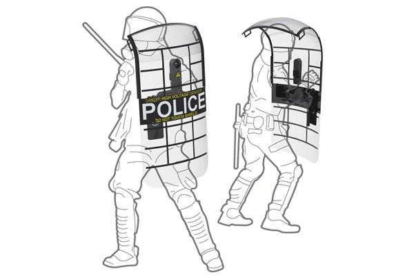 Riot shield clipart picture free stock Adjustable Taser/Pepper Spray Riot Shield By Bernardo Bajana ... picture free stock