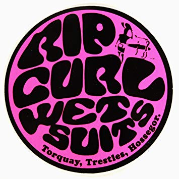 Rip curl logo clipart clipart black and white RIP CURL Wetsuits Sticker Pink: Amazon.co.uk: Sports & Outdoors clipart black and white