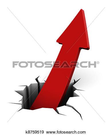 Rising arrow clipart vector library library Stock Illustration of rising arrow break k8759519 - Search Vector ... vector library library