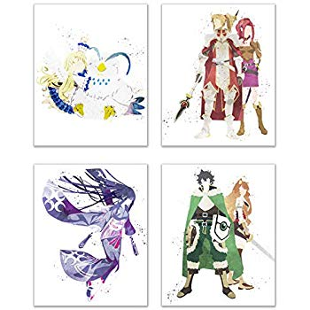 Rising of the shield hero clipart clip art library library Amazon.com: Watercolor Rising of The Shield Hero (Tate no ... clip art library library
