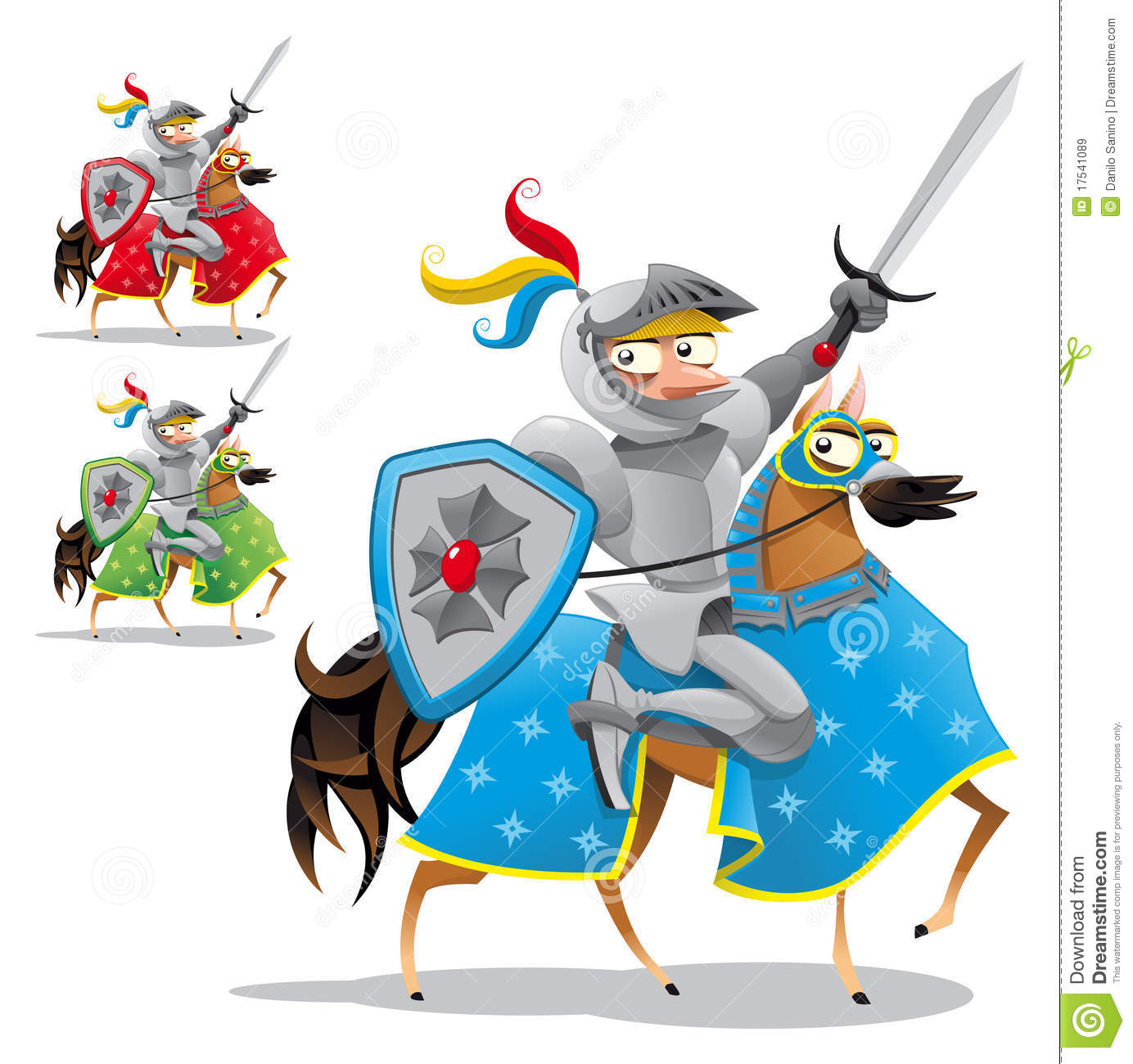 Ritter auf pferd clipart freeuse stock Ritter Und Pferd Stockfoto - Bild: 7132530 freeuse stock