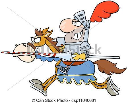 Ritter auf pferd clipart picture royalty free download Vektor von ritter, Pferd, glücklich, Reiten - glücklich, ritter ... picture royalty free download