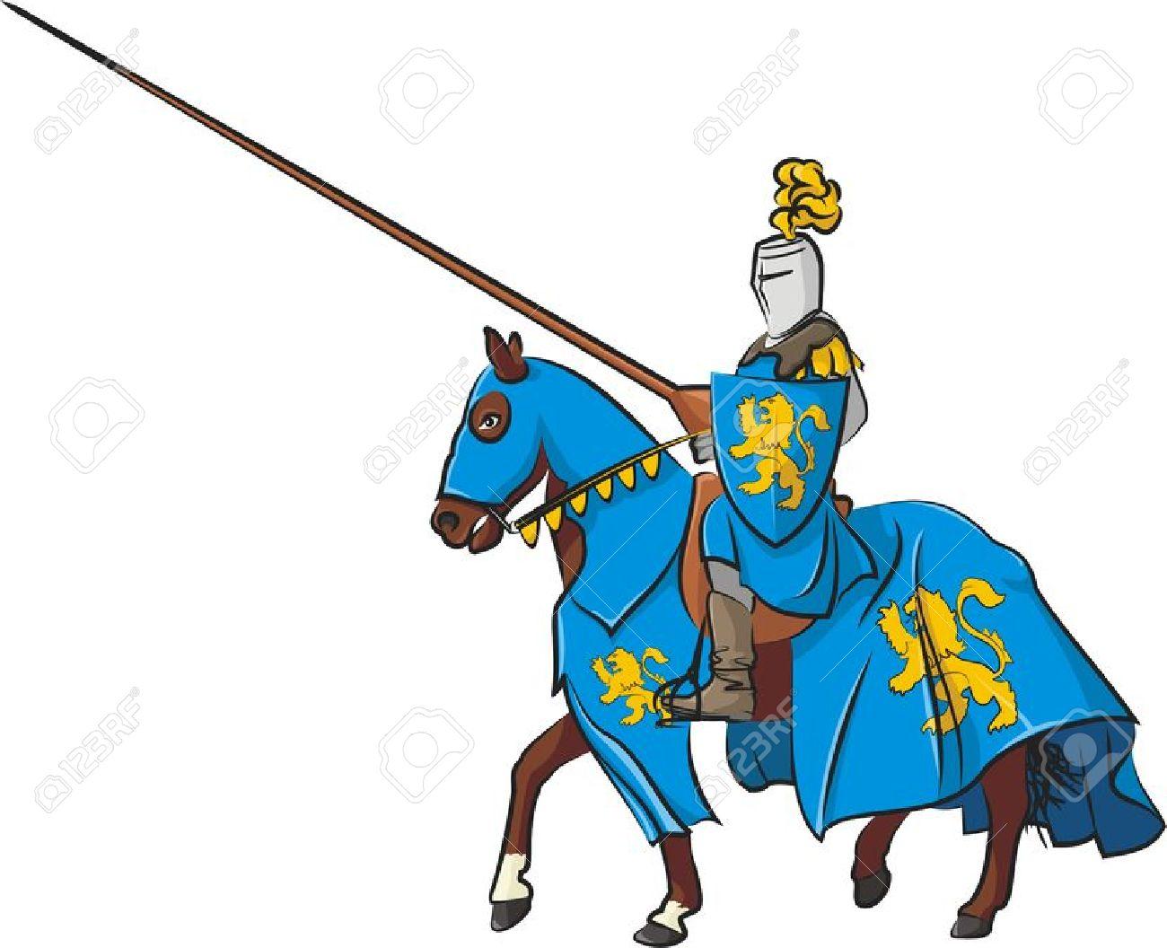 Ritter auf pferd clipart transparent library Mittelalterlichen Ritter Zu Pferd Lizenzfrei Nutzbare ... transparent library