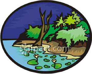 Rivebank clipart image free stock Riverbank In the Jungle - Royalty Free Clipart Picture image free stock