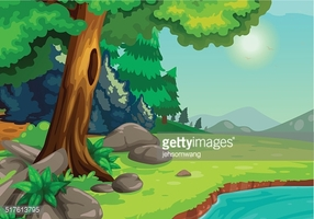 River background clipart graphic stock Illustration of Forest With A River Background Vector stock ... graphic stock