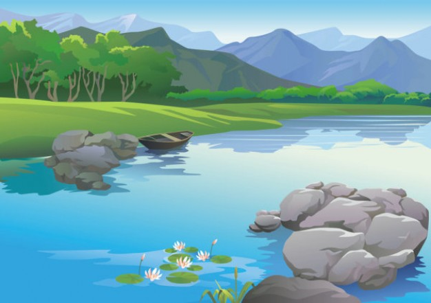 River background clipart clip art free River landscape with lonly boat and mountain background ... clip art free
