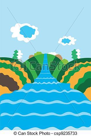 River background clipart svg transparent Vectors of Natural background with the river - Nature illustration ... svg transparent