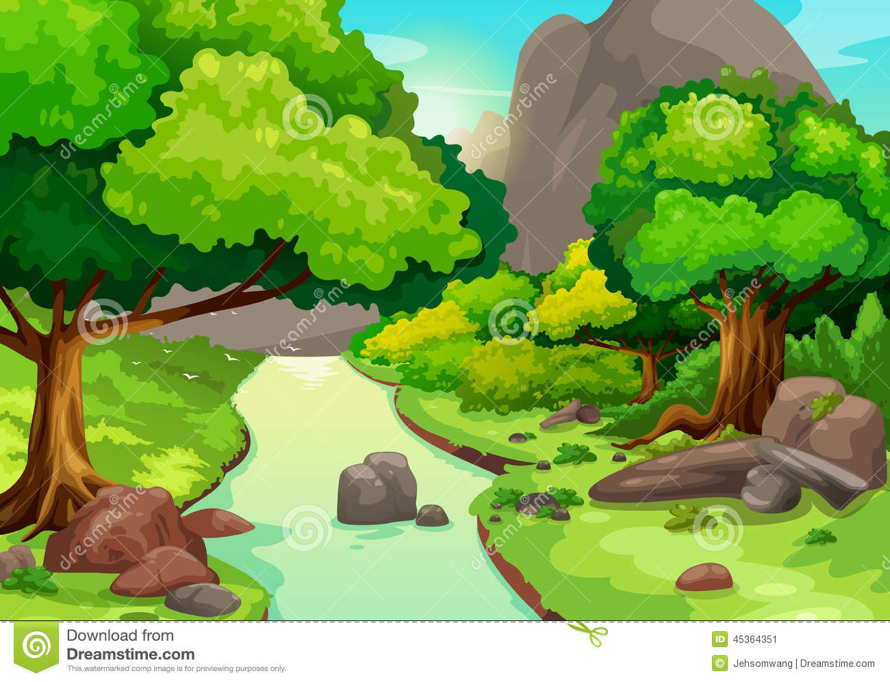 River background clipart image download Forest With A River Background Stock Vector - Image: 44637656 image download