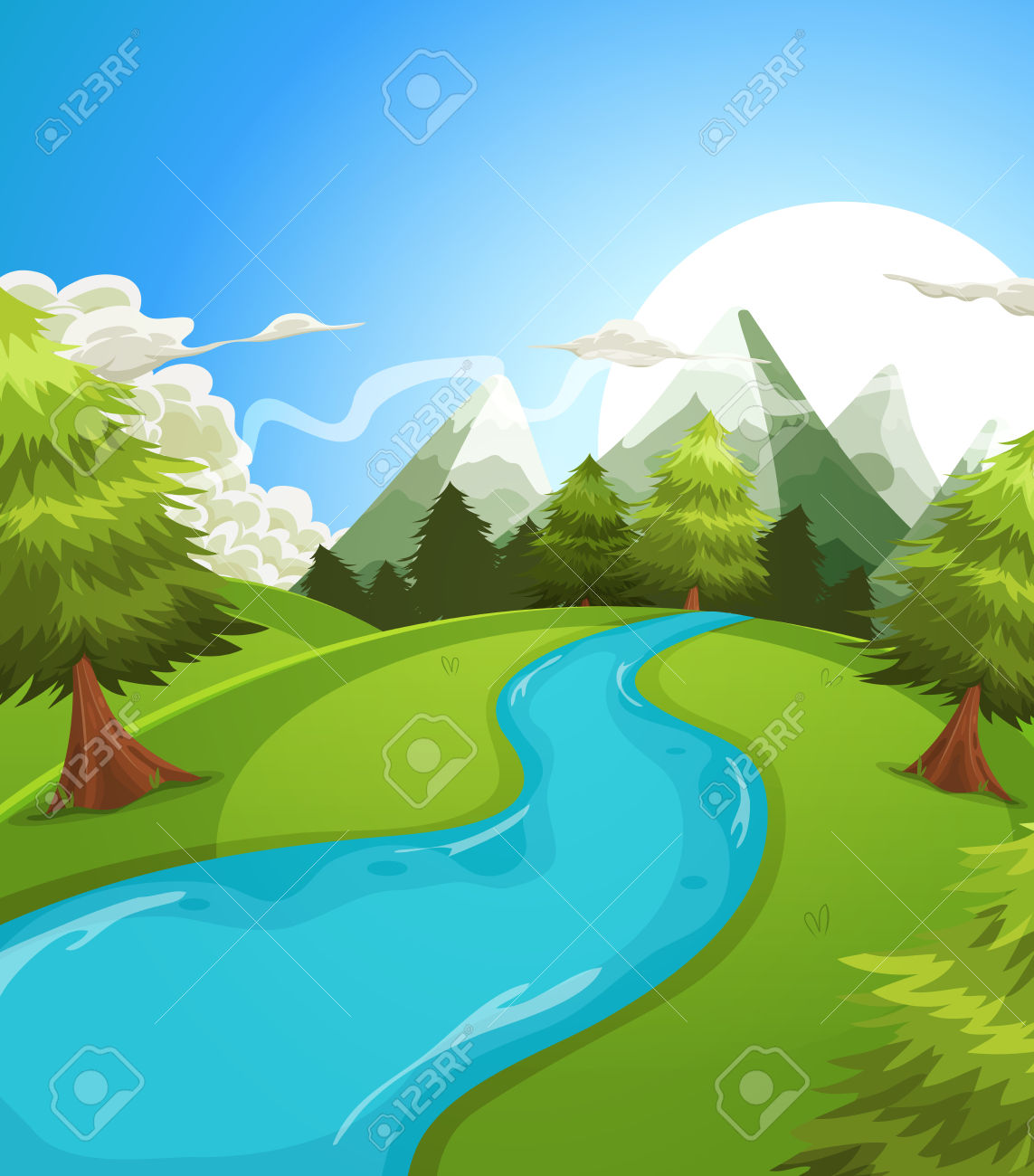 River background clipart jpg royalty free stock 76,631 Stream Stock Vector Illustration And Royalty Free Stream ... jpg royalty free stock