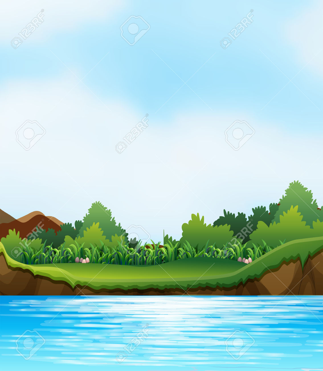 River bank clipart image library stock 831 River Bank Stock Vector Illustration And Royalty Free River ... image library stock