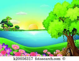 River bank clipart image freeuse Riverbank Clip Art and Illustration. 738 riverbank clipart vector ... image freeuse