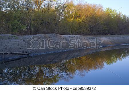 River bank state park logo clipart png black and white library Stock Photo of Sunrise Along River Banks - Sunrise along river and ... png black and white library