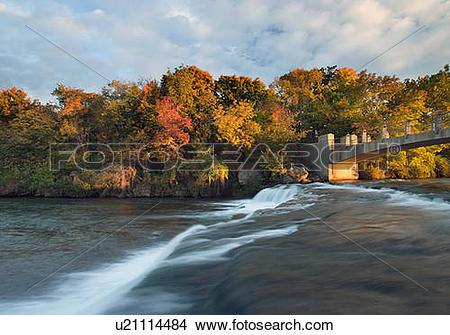 River bank state park logo clipart vector library Stock Photo of The Niagara River - Niagara Falls State Park USA ... vector library