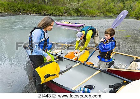 River bank state park logo clipart png Stock Photo of Families Canoeing Together Stop For A Break On The ... png