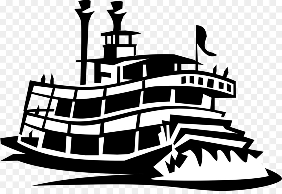 River boat with a paddle wheel clipart image black and white library Ship Cartoon png download - 1032*700 - Free Transparent ... image black and white library