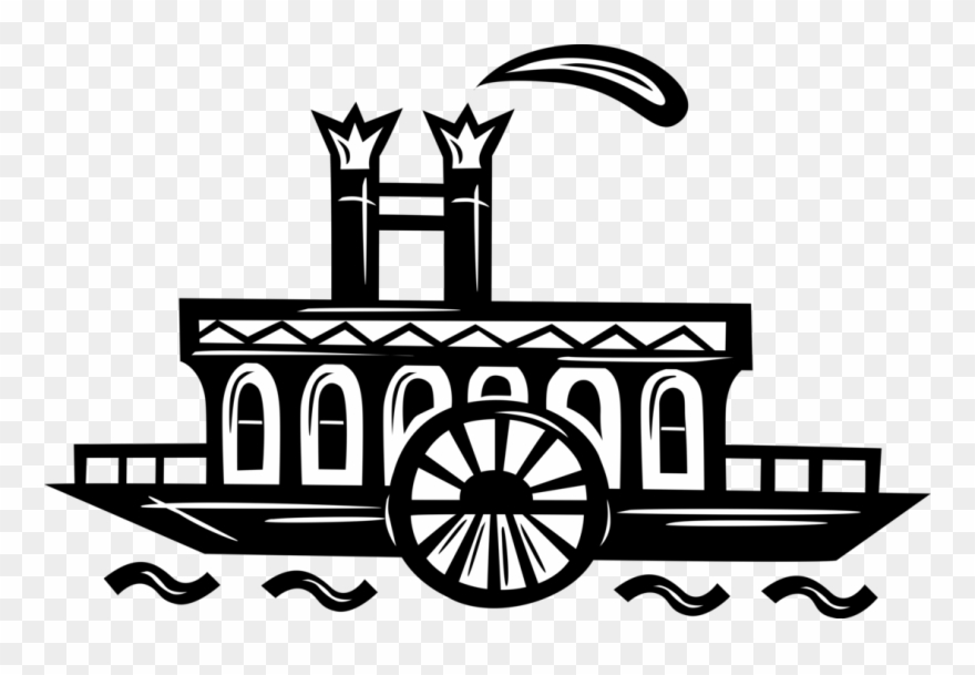 Riverboat images clipart graphic royalty free stock Vector Illustration Of Mississippi Paddleboat Or Paddle ... graphic royalty free stock