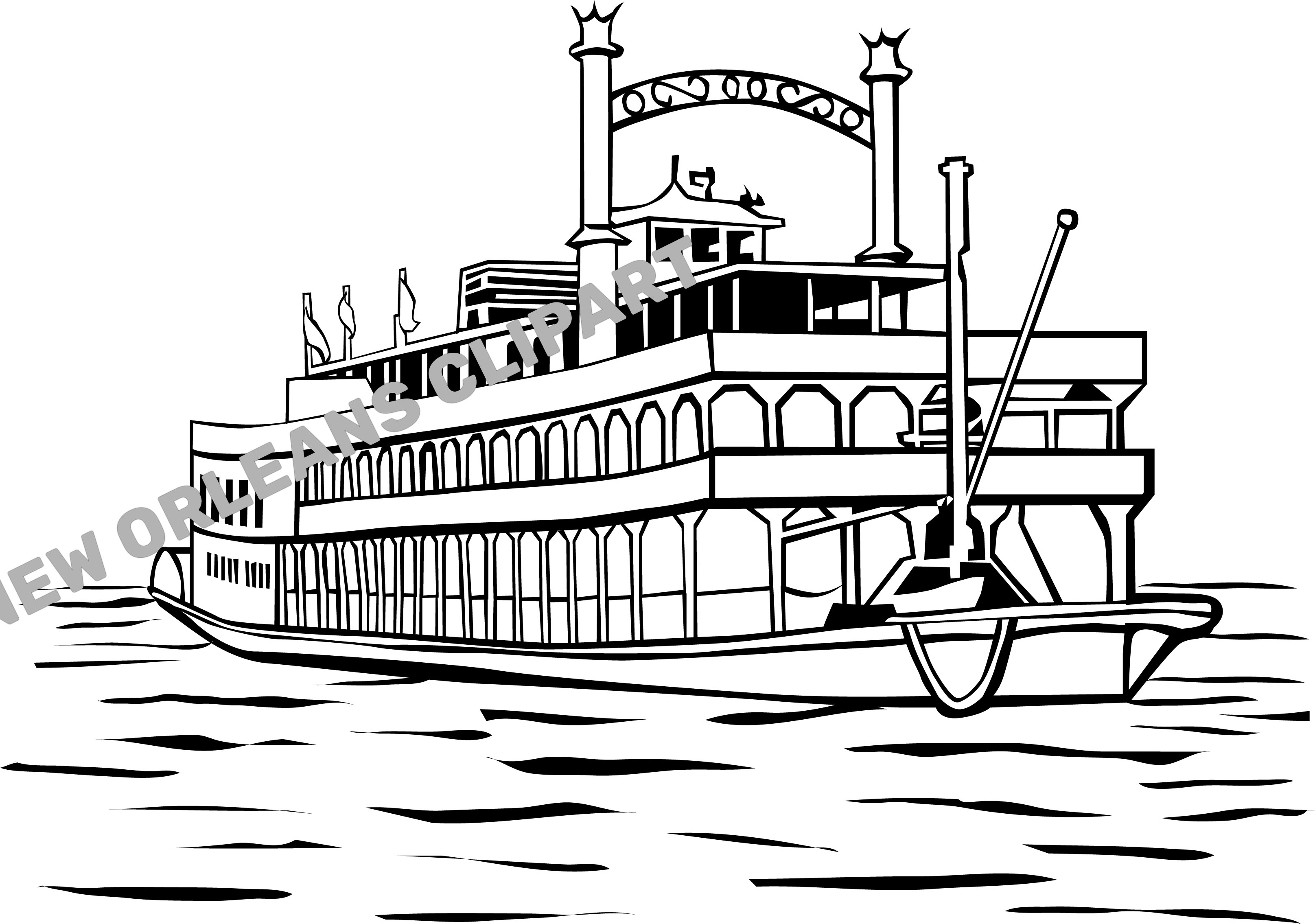 River boat with a paddle wheel clipart picture library library New Orleans Steam Boat Clip Art picture library library