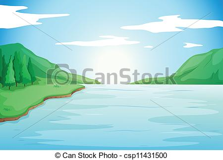River clipart free banner free download Vector of River View - Stock vector of river scenery csp5326308 ... banner free download