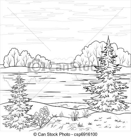 River clipart outline graphic freeuse stock black and white creek and river clip art | Clip Art - Landscape ... graphic freeuse stock