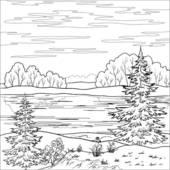 River clipart outline svg free download Clip Art of Landscape. Forest river, outline k7028206 - Search ... svg free download