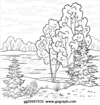 River clipart outline graphic freeuse library Black And White Nature Clipart - Clipart Kid graphic freeuse library